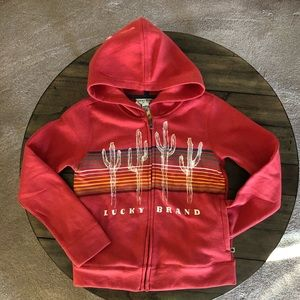 Lucky Brand Girls Fleece Zip Hoodie, Size M